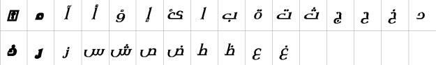 XM Yermook Bold Italic Urdu Font
