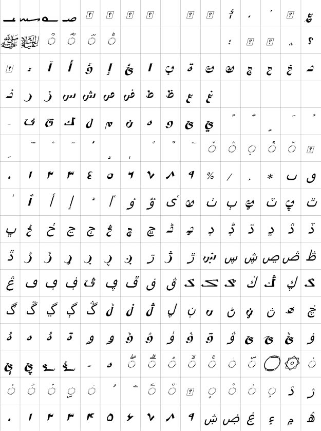 XP Vosta Italic Urdu Font