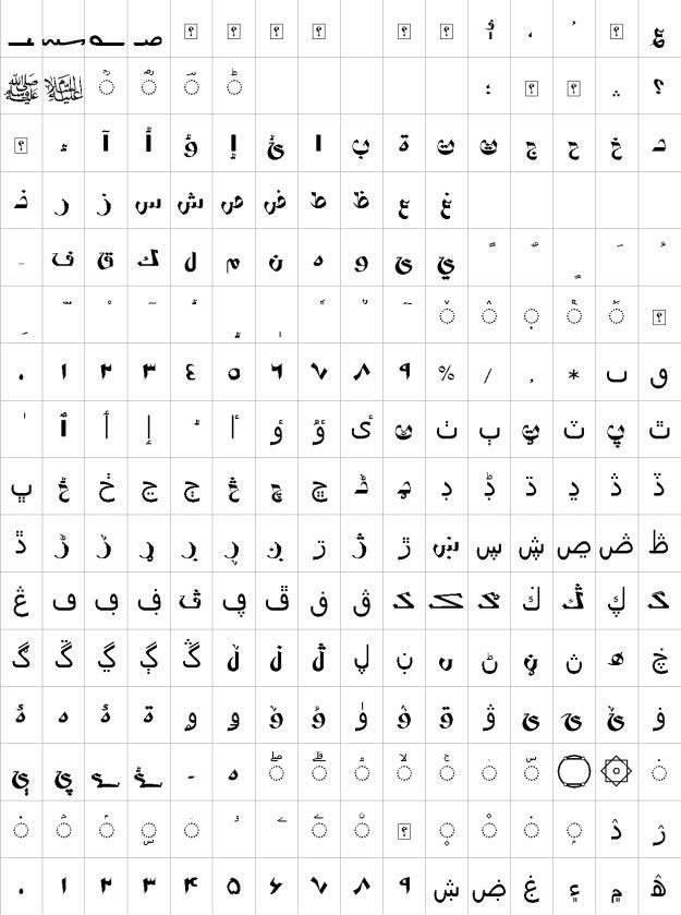 XP Vosta Urdu Font