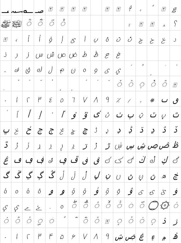 XP Ziba Italic Urdu Font